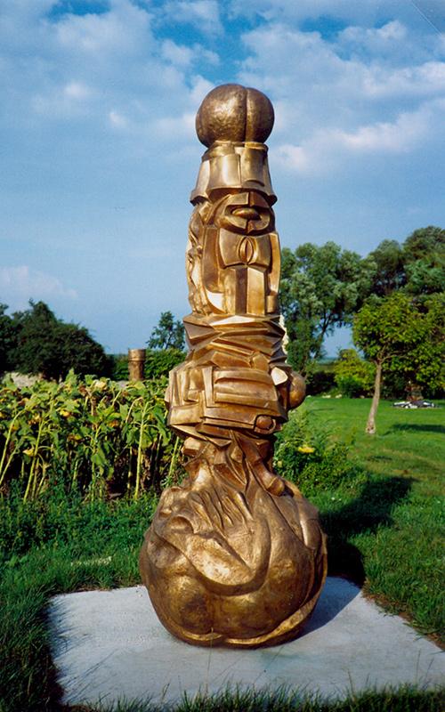 Wander Bertoni, Moment der Vernunft, 1971, Bronze, Metamorphose der Säule