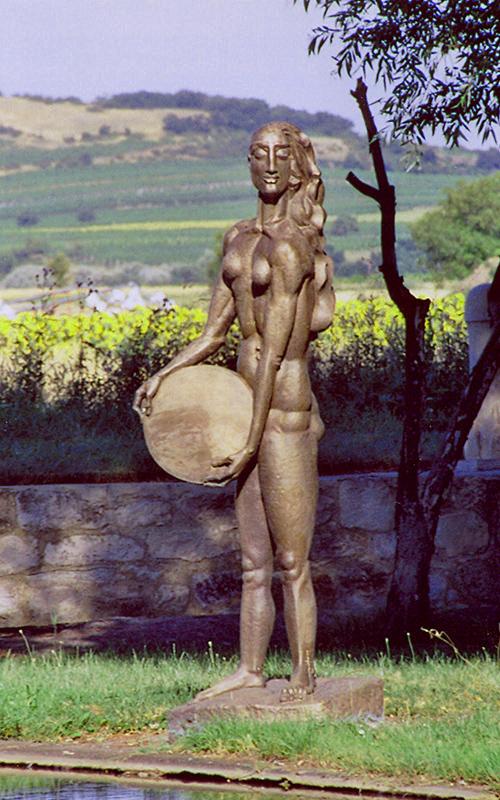 Wander Bertoni, Sonne, Energiebrunnen, Bronze, 1992-93